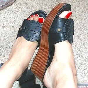 🖤Tory Burch🌴Miller heel Tory Burch wedge sandals